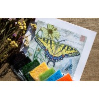 """Yellow Butterfly"" - Bead embroidery pattern"