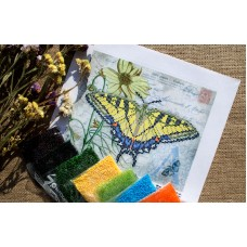 """""""Yellow Butterfly"""" - Bead embroidery pattern"""