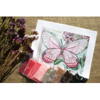 """""""White Butterfly"""" - Bead embroidery pattern"""