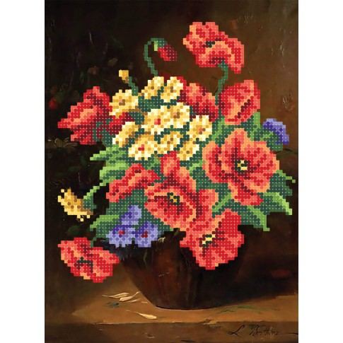 """Bead embroidery pattern """"Charming bouquet"""""""