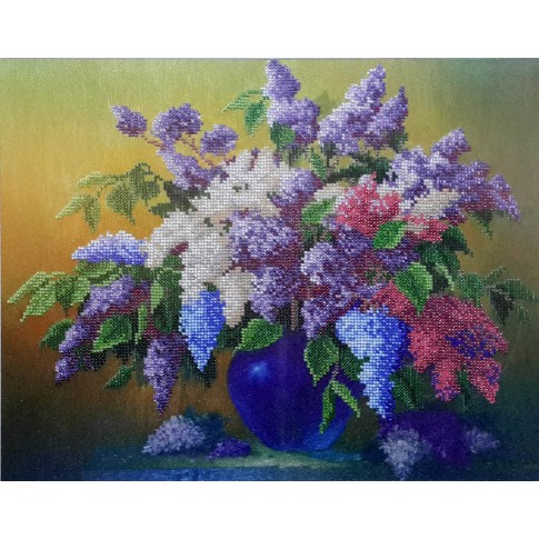 """Bead embroidery kit """"Lilac"""""""