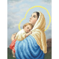 """Mary and Child"" - Bead embroidery pattern"