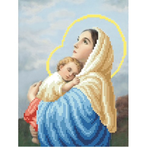 """Bead embroidery pattern """"Mary and Child"""""""