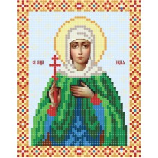"""""""Saint Lydia the Martyr"""" - Bead embroidery pattern of icon"""
