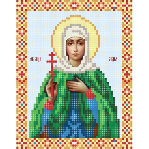 "Bead embroidery pattern of icon ""Lydia the Martyr"""