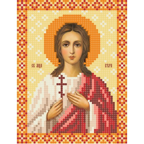 "Bead embroidery pattern of icon ""Saint Martyr Vera"""