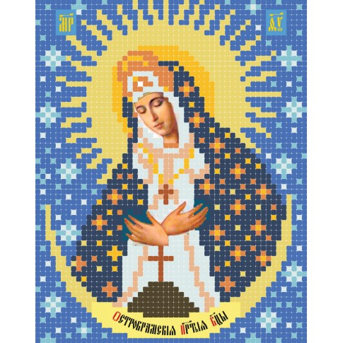"""Bead embroidery pattern of icon """"Our Lady of the Gate of Dawn"""""""