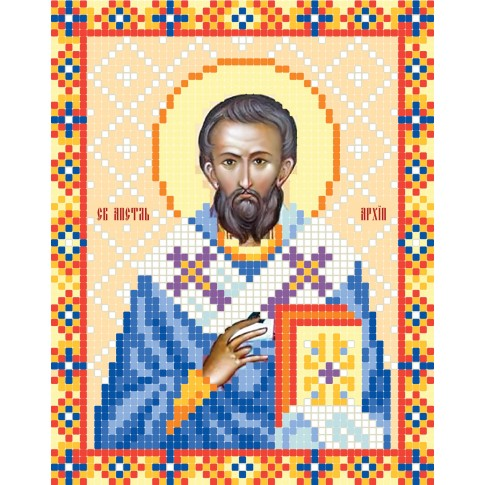 "Bead embroidery pattern of icon ""Holy Apostle Archippus"""