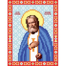 """Saint Seraphim of Sarov"" - Bead embroidery pattern of icon"