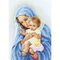 """The Virgin and Child"" - Bead embroidery pattern"