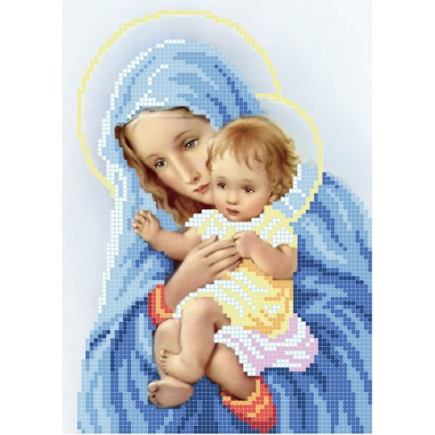 "Bead embroidery pattern ""The Virgin and Child"""