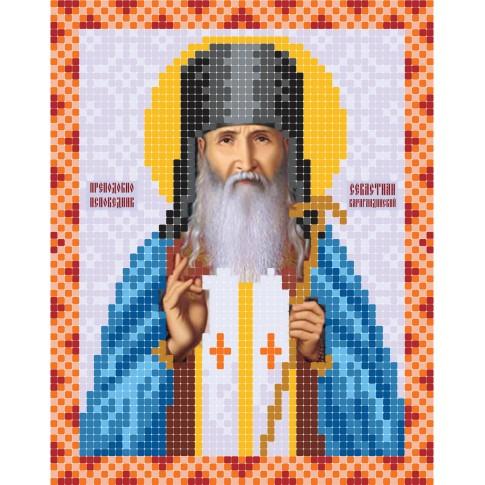 "Bead embroidery pattern of icon ""Sevastian Karagandinsky"""
