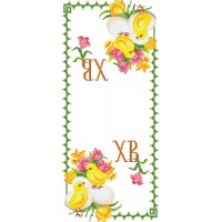 """Easter Rushnyk 9"" - Bead embroidery pattern of easter towel"
