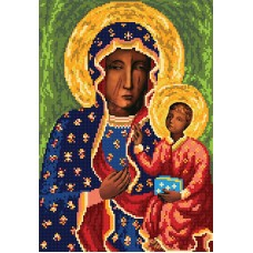 """""""Our Lady of Częstochow A3"""" - Bead embroidery pattern of icon"""