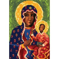 """The Black Madonna of Częstochowa A4"" - Bead embroidery pattern of icon"