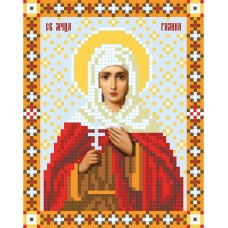 """""""Saint Galina of Antioch"""" - Bead embroidery pattern of icon"""