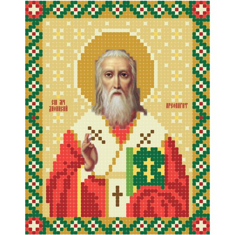"Bead embroidery pattern of icon ""Dionisy Areopaghit"""