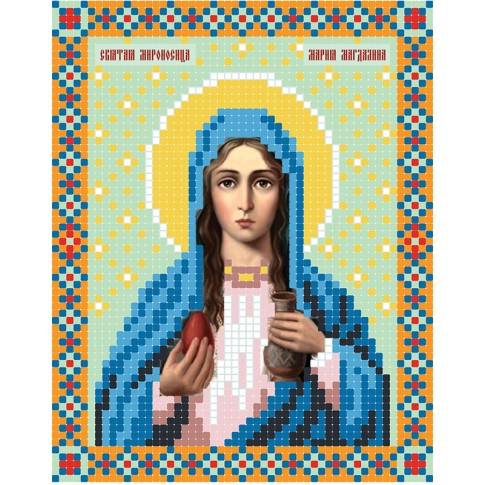 "Bead embroidery pattern of icon ""Mary Magdalene"""