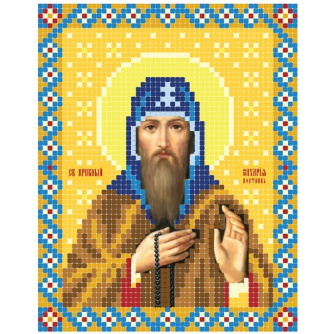 "Bead embroidery pattern of icon ""Holy Zachary"""