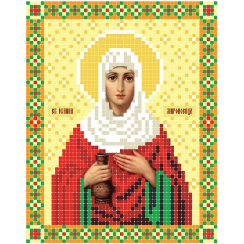 "Bead embroidery pattern of icon ""Saint Joanna"""