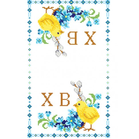 """Bead embroidery pattern of easter towel """"Chick"""""""