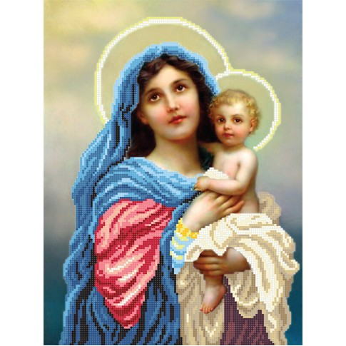 "Bead embroidery pattern ""The Madonna and Child"""