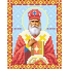"""""""St. Seraphim, bishop of Dmitrov"""" - Bead embroidery pattern of icon"""