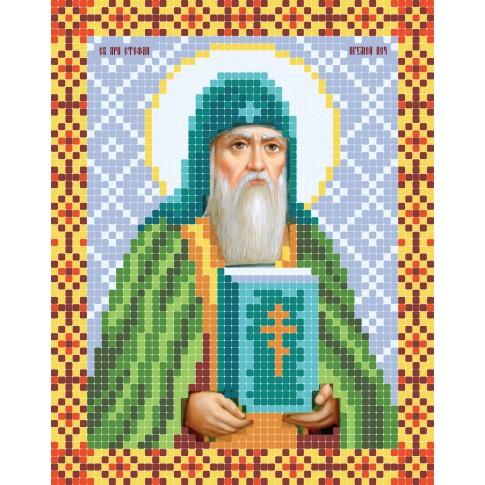 "Bead embroidery pattern of icon ""Rev. Stephen, Hegumen of Pechersk"""