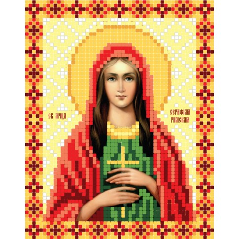 """Bead embroidery pattern of icon """"Martyr Seraphim of Rome"""""""
