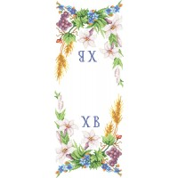 "Easter Rushnyk ""Lily and grona"" - Bead embroidery pattern of easter towel"