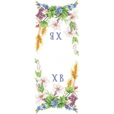 """Easter Rushnyk """"Lily and grona"""" - Bead embroidery pattern of easter towel"""