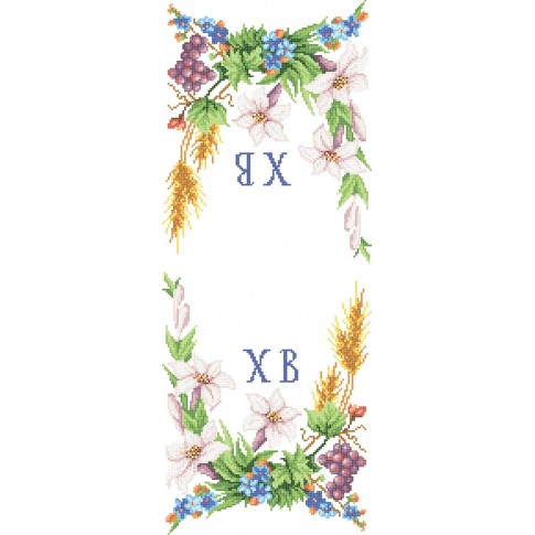 "Bead embroidery pattern of easter towel Easter Rushnyk ""Lily and grona"""