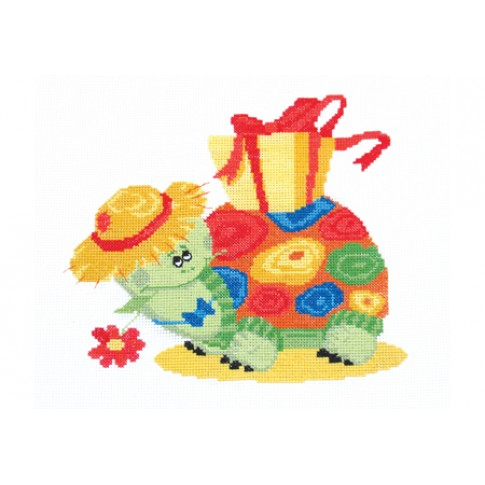 """Cross stitch kit """"Turtle Tortilla"""""""