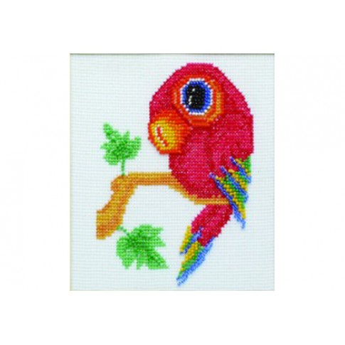 "Beaded cross stitch kit ""Parrot"""