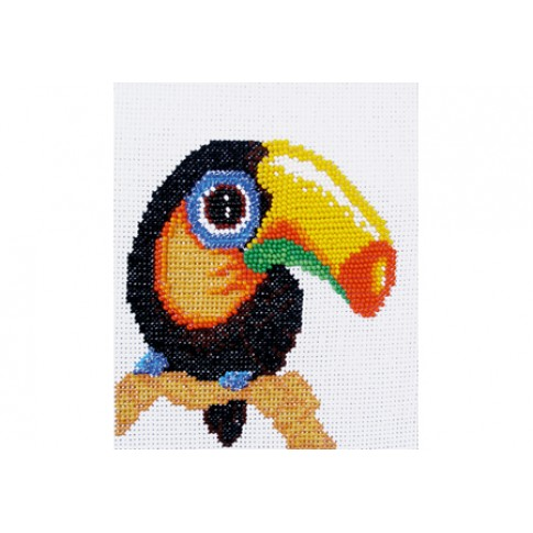 "Beaded cross stitch kit ""Toucan"""