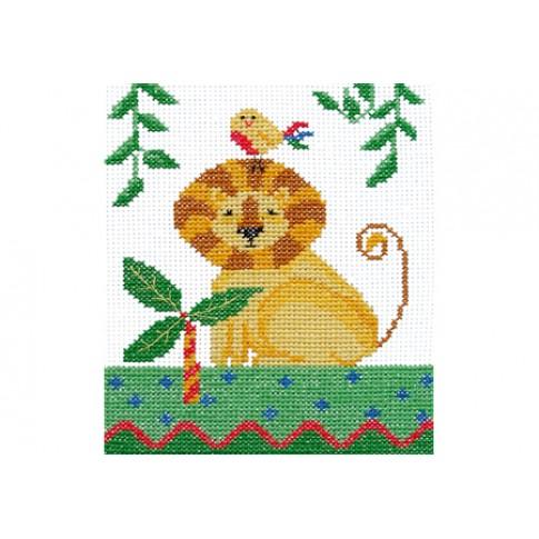 "Cross stitch kit ""Africa. Lion"""