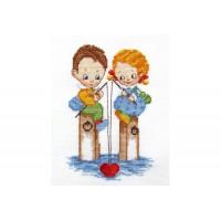 """Fishermen"" - Cross stitch kit"