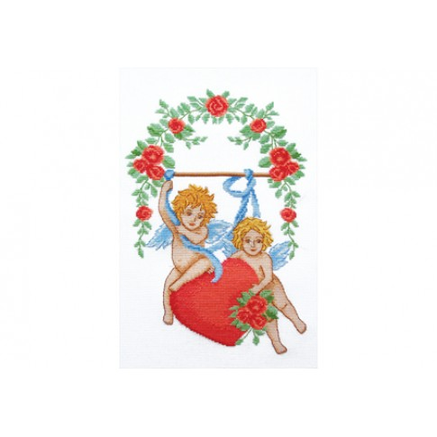 "Cross stitch kit ""Cupids of Love"""