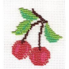 "Bead embroidery kit ""Cherries"""