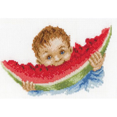 "Cross stitch kit ""Yummy watermelon"""