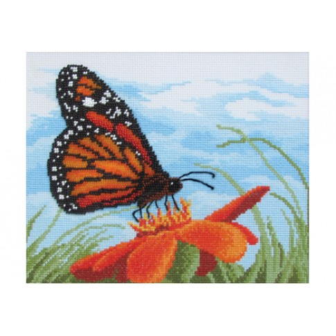 "Beaded cross stitch kit ""Monarch"""