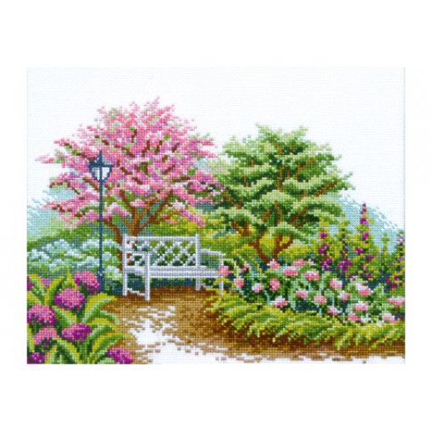 "Cross stitch kit ""Blooming garden"""