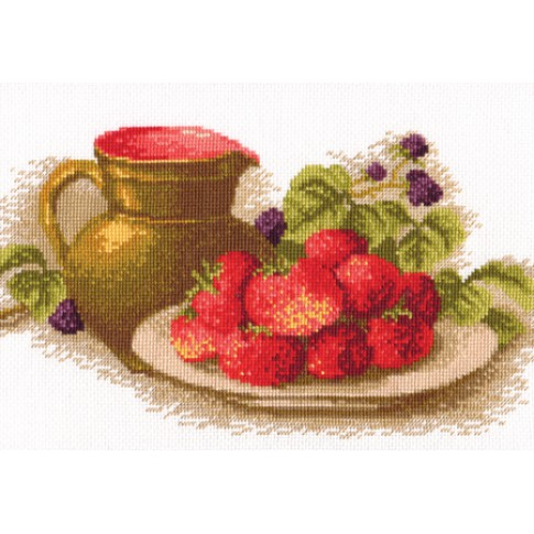 "Cross stitch kit ""Still life with strawberries"""