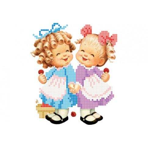 "Bead embroidery pattern ""Girls"""