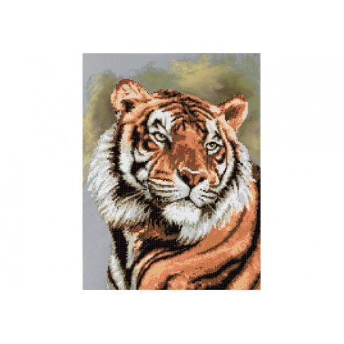"""Bead embroidery pattern """"Tiger"""""""