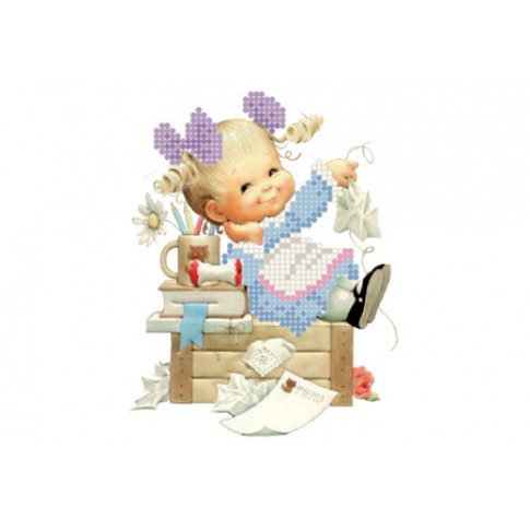 "Bead embroidery pattern ""Little housewife"""