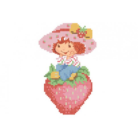 "Bead embroidery pattern ""On the strawberry"""
