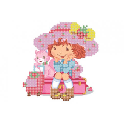 "Bead embroidery pattern ""Girl traveler"""