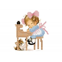 """Girl writer"" - Bead embroidery pattern"
