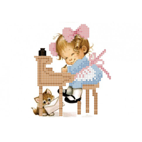 "Bead embroidery pattern ""Girl writer"""